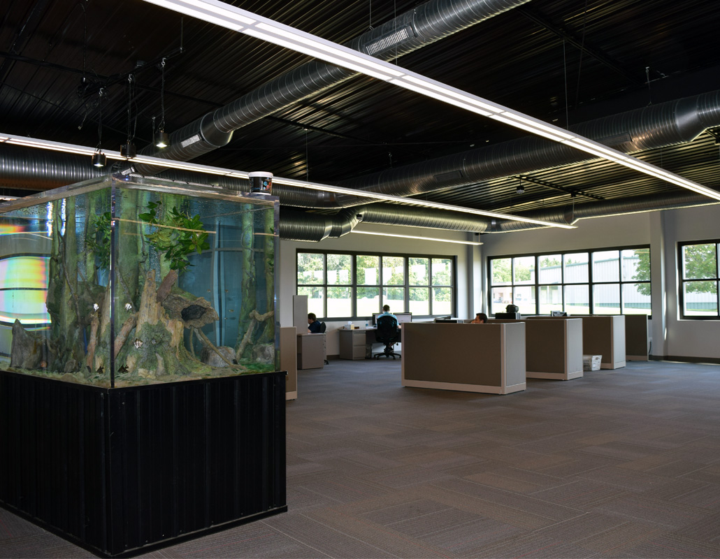Frederick Ward Associates Open Office Format with Fish tank