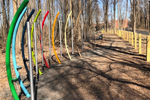 Designed to evoke the senses, this section of the trail provides stimulation for adults and children of all abilities.